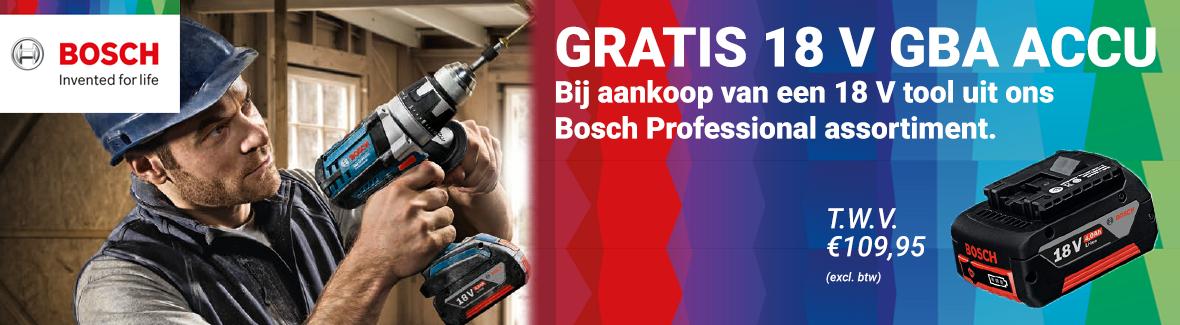 Gratis accu van Bosch