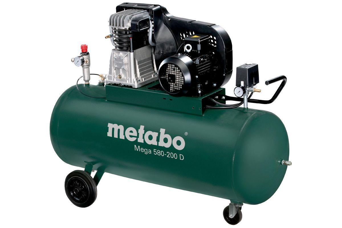 metabo mega 580 200d compressor 11 bar 3000 watt voor bij gereedschappelijk. Black Bedroom Furniture Sets. Home Design Ideas