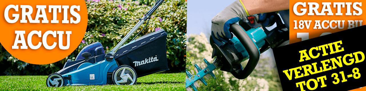 GRATIS Makita accu bij Makita Actiemachines en Combosets
